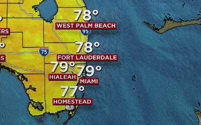 Este jueves se mantienen el viento y las lloviznas en Miami y todo el su...