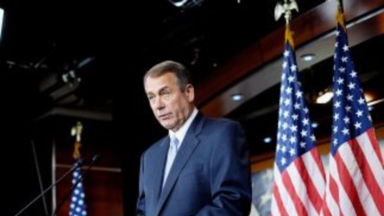 El presidente del Congreso e Estados Unidos, John Boehner (republicano d...