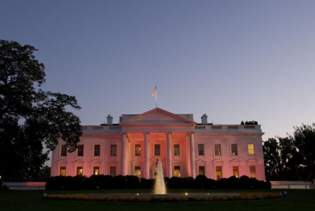 Al igual que la Casa Blanca, otros edificios se iluminaron de rosa como...