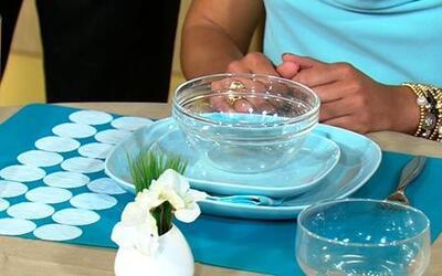 Pon la mesa y utensilios para adelgazar