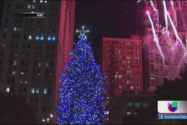 Ya está iluminado árbol de Navidad de Chicago