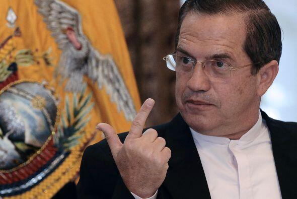 El ministro de Relaciones Exteriores, Ricardo Patiño dijo que 'Ecuador h...