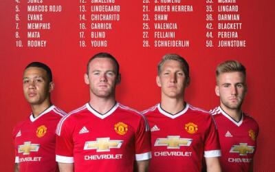 Dorsales del Manchester United 2015-16