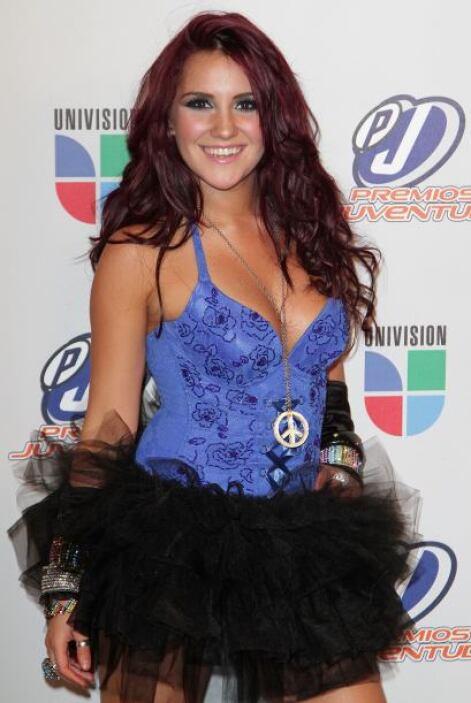 Dulce María en los Premios Juventud, donde ha destacado muchísimo.
