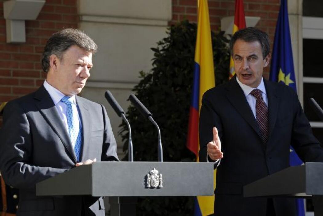 Fue recibido por su homólogo español, presidente José Luis Rodríguez Zap...