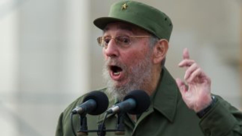 Fidel Castro, durante las celebraciones del 50 aniversario de la revoluc...