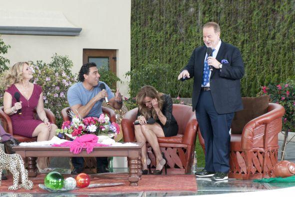 Los actores se divirtieron a lo grande con las ocurrencias de Raúl y Lili.