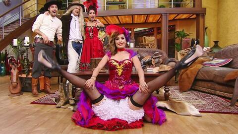 Karla Martínez dio un espectáculo de can-can digno del 'Moulin Rouge'