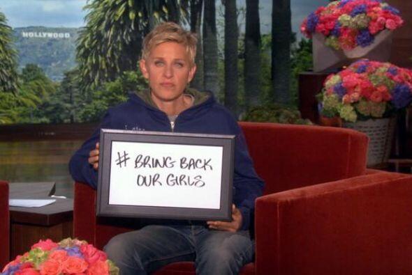 Ellen Degeneres también pidió por las niñas nigerianas. Fotos: Twitter