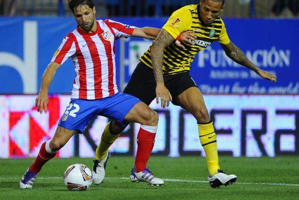 El brasileño Diego movió los hilos en el mediocampo del 'Atleti'.