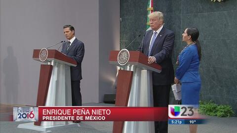 Donald Trump de visita en México