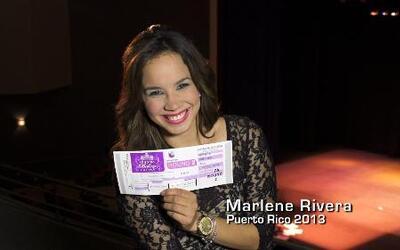 """La hermosa Puertorriqueña """"Marlene Rivera"""" audiciona para Nuestra Bellez..."""