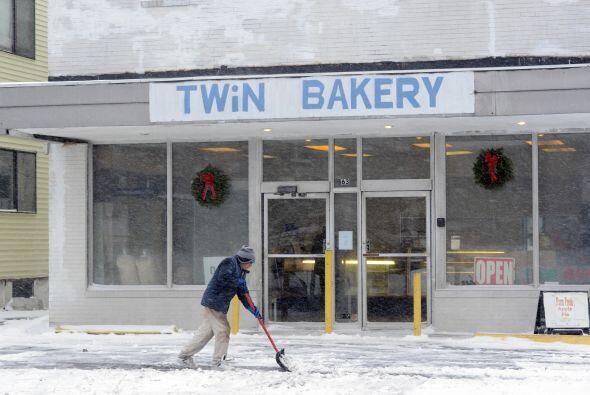 En algunas zonas caerán hasta 10 pulgadas de nieve.