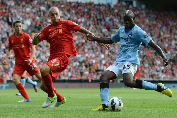 Es que el defensor marcó un buen gol ante los Citizens.