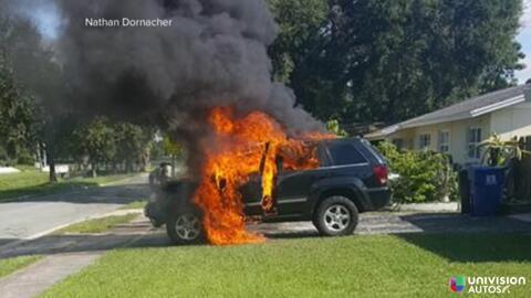 Incendio de una Jeep Grand Cherokee por causa de un Galaxy Note 7