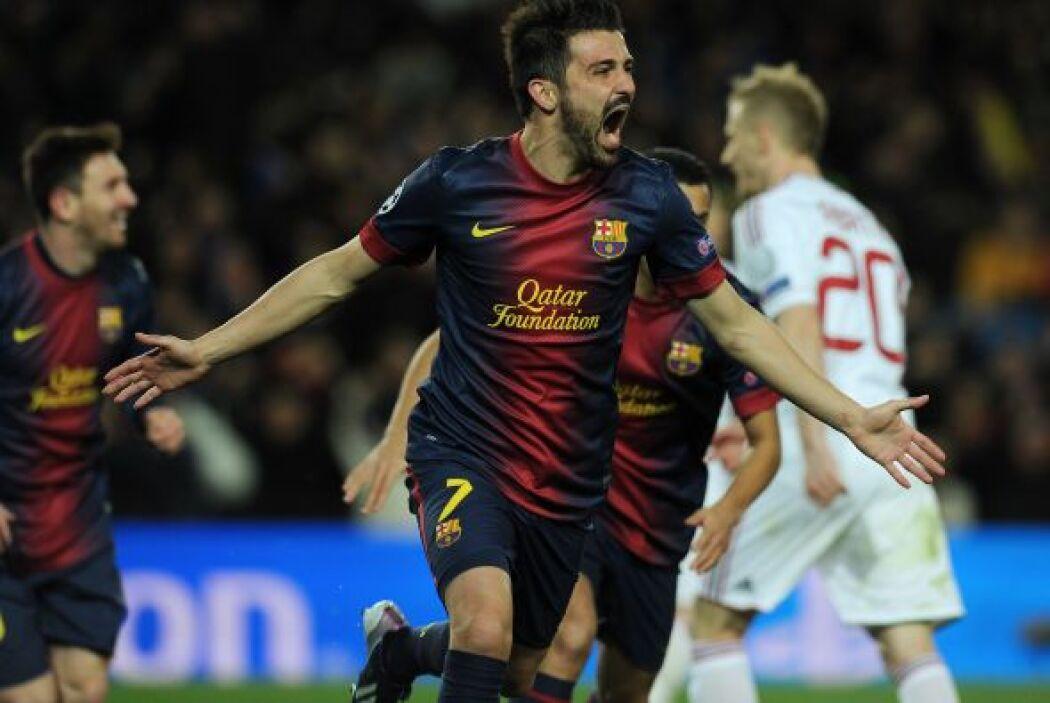 Villa celebraba y Barcelona ponía la eliminatoria a su favor.