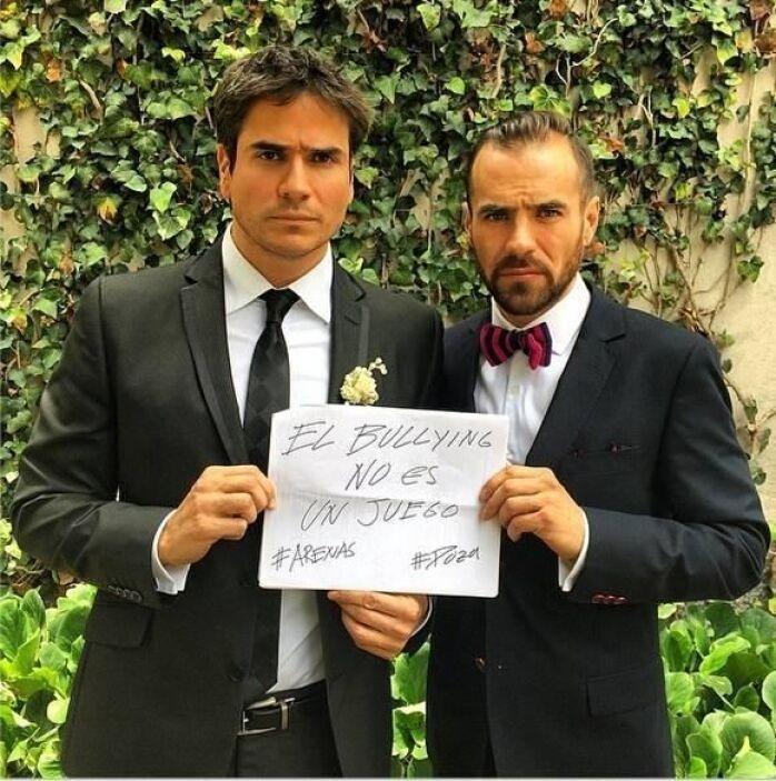 El actor mexicano Jorge Poza y el actor y modelo colombiano Daniel Arena...