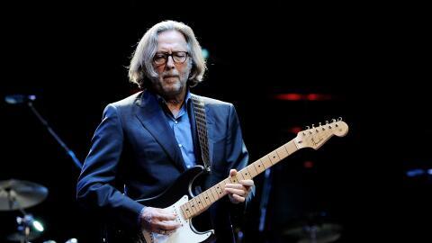 LONDON, ENGLAND - NOVEMBER 17: ***EXCLUSIVE*** Musician Eric Clapton per...