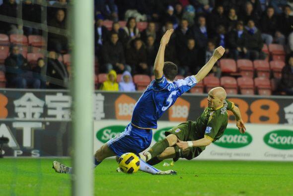 Cuando todos creían que la victoria del Wigan era un hecho, Johns...