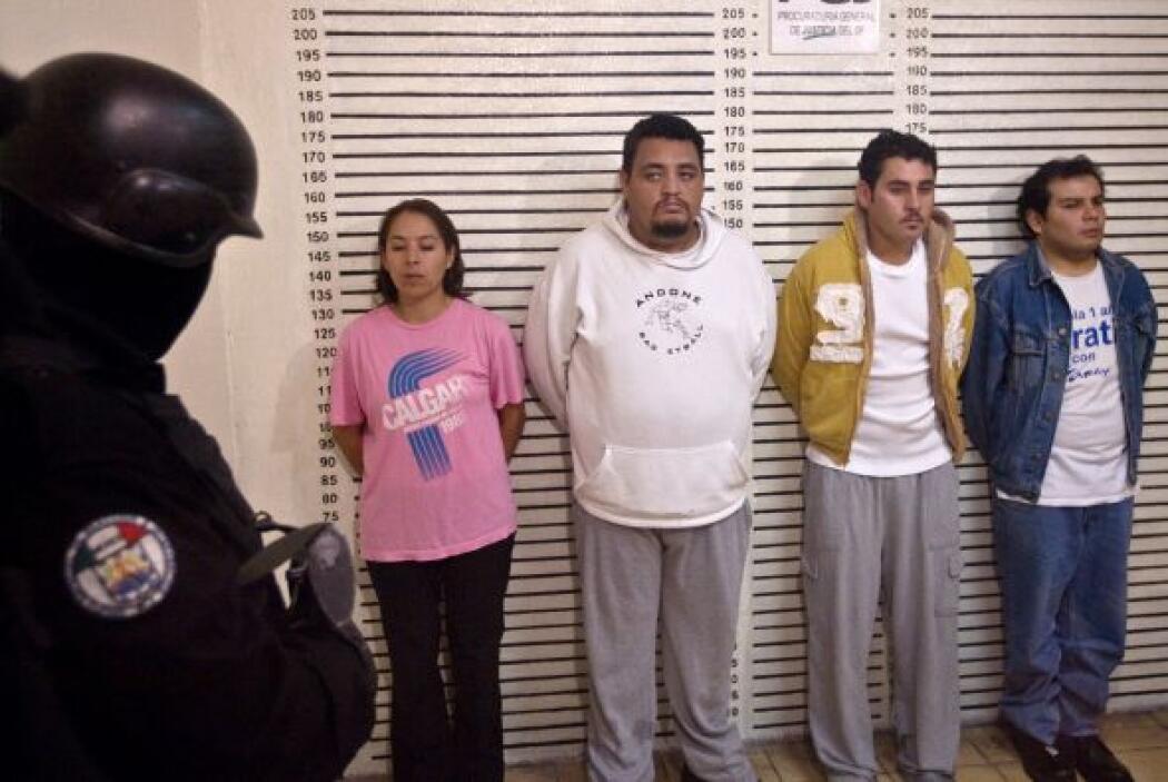 De izquierda a derecha Lorena González, Cañas Noé Cañas Israel y Marco A...