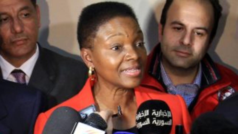 Valerie Amos,directora para asuntos humanitarios de la ONU.