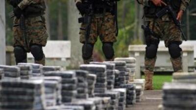 La droga estaba embalada en 95 sacos con 25 paquetes de cocaína. (Imagen...