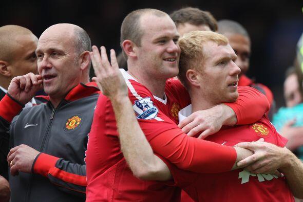 Dos históricos del United, Rooney y Paul Scholes.