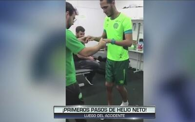 El milagro de Hélio Neto, sobreviviente del Chape: ya dio sus primeros p...