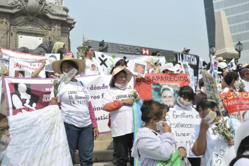 Además de esta marcha, 10 madres y padres de personas desaparecidas en M...