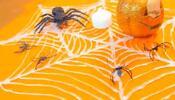 Haz una telaraña de silicón para Halloween