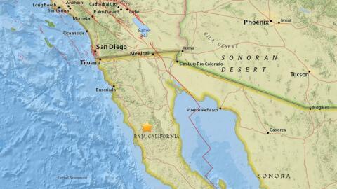 Un sismo de 4.4 se registró en Baja California la madrugada del m...