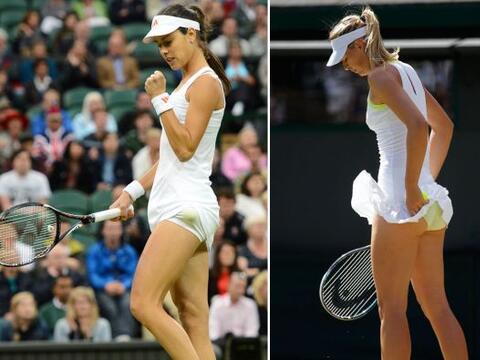 Dos bellas cayeron en octavos de final de Wimbledon 2012, la serbia Ana...