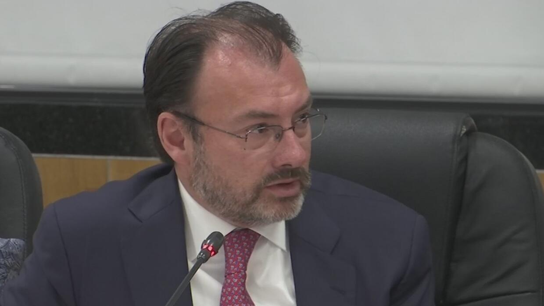 Videgaray reitera al presidente Trump que México no pagará ningún muro