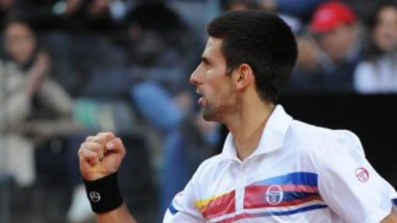 Continúa la racha del serbio Djokovic, ahora se coronó en Roma.