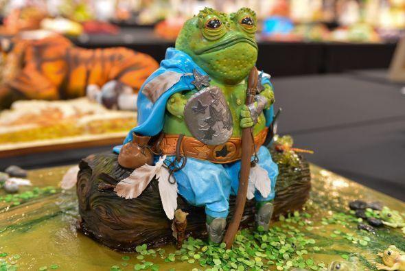 Esta rana, seguro será un dulce postre.