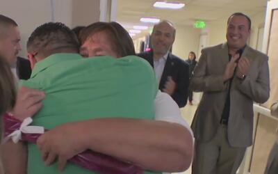 El emotivo reencuentro de 22 familias que no se veían desde hace varios...