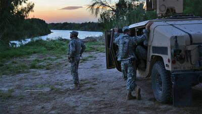 Guardia Nacional vigila la frontera de Texas/México