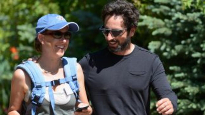 Brin y Wojcicki, ambos de 40 años, se casaron hace seis, son padres de d...