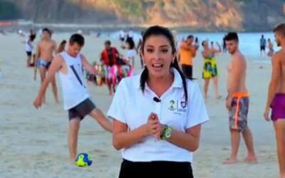 Maity ya disfruta de las playas de Rio de Janeiro