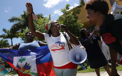 La comunidad haitiana de Florida ha llevado una fuerte campaña pa...