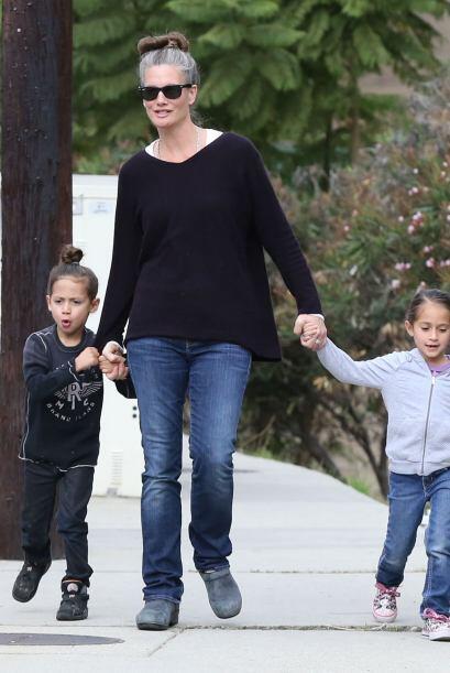 Ahora no iban con mami J.Lo o papi Marc, sino con su inseparable niñera....