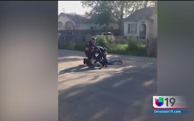 Joven golpeado por un oficial de Sacramento tenía récord criminal