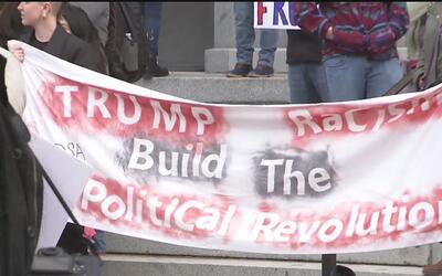 Protestas contra Donald Trump en el capitolio estatal