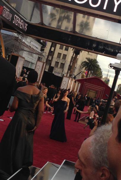 """A lo lejos pudo ver a Sandra Bullock, protagonista de """"Gravity""""."""