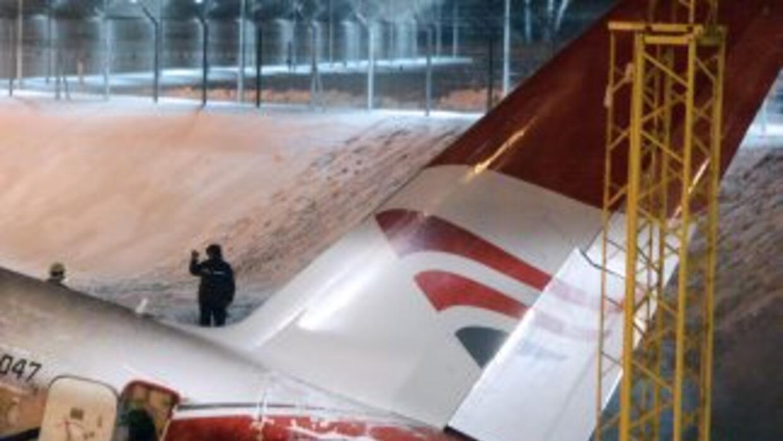 El avión cumplía un vuelo regular procedente de Koshketau, ciudad en el...