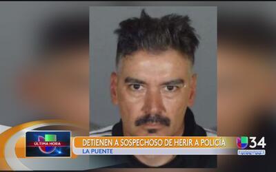 Detienen a sospechoso de herir a un policía de West Covina