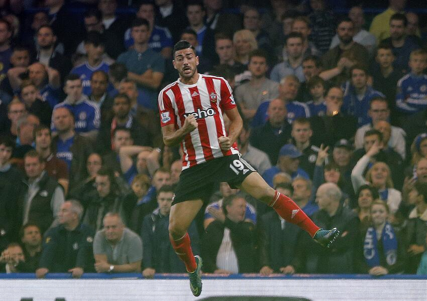 Pellé festeja el triunfo de Southampton