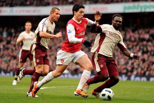Nasri fue de lo mejor en el Arsenal pero se le complicó a la hora del at...
