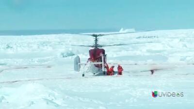 Imágenes del rescate de los 52 pasajeros del barco ruso atrapado en la A...