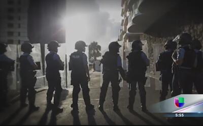 Culmina en violencia manifestación contra junta de control fiscal